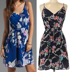 Yumi Kim 100% Silk Goddess Faux Wrap Dress Floral